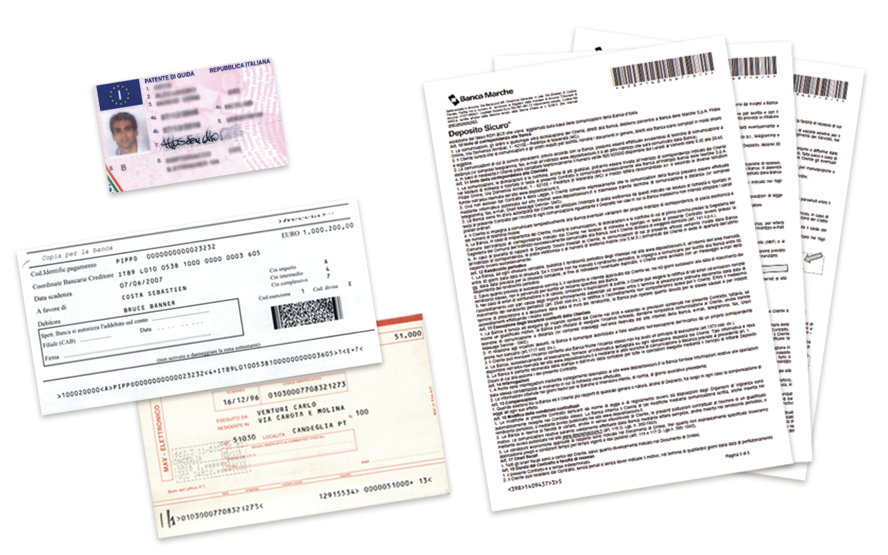 Documents managed by 4Cheque