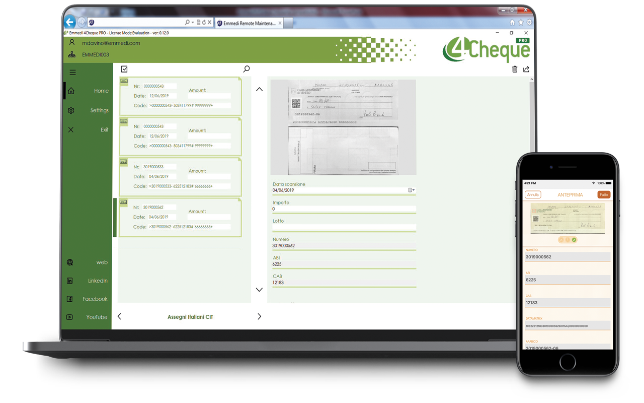 4Cheque PRO and 4Cheque APP: a powerful combination